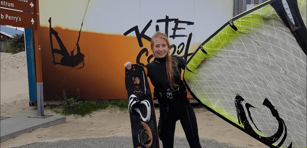 woman wearing kitesurfing wetsuit
