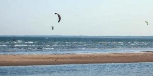 Kitesurfing in Mandjala Beach, Saaremaa